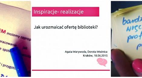 Inspiracje – realizacje, czyli podgórscy bibliotekarze w akcji!
